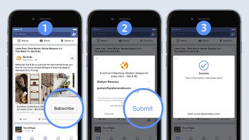 Exemple de Facebook lead ad